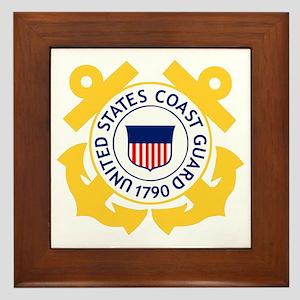 USCG-Emblem Framed Tile