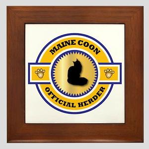 Maine Coon Herder Framed Tile