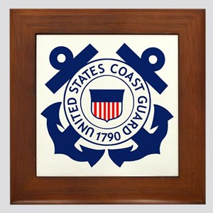 USCG-Logo-2-Blue.gi... Framed Tile