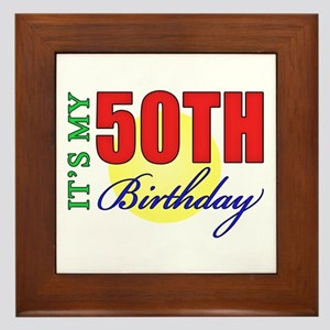 50th Birthday Party Framed Tile