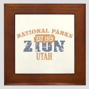 Zion National Park Utah Framed Tile