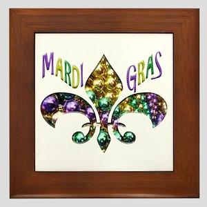 Mardi Gras Fleur Framed Tile
