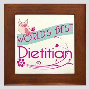 World's Best Dietitian Framed Tile