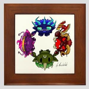 Chaos gods Framed Tile