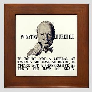 Churchill on Conservatives Framed Tile