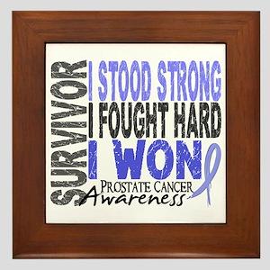 Survivor 4 Prostate Cancer Shirts and Gifts Framed