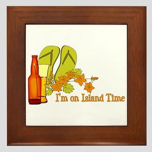 I'm On Island Time Framed Tile