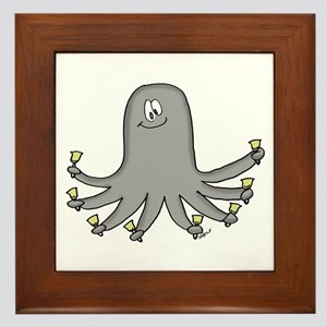 Octopus Handbells Framed Tile
