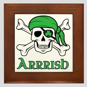 Irish Pirate Framed Tile
