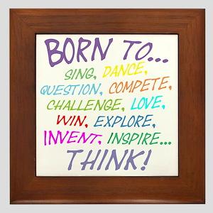 Born To... Framed Tile