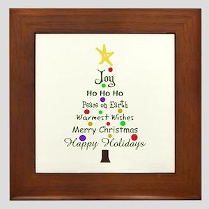 CHRISTMAS TREE GREETINGS Framed Tile