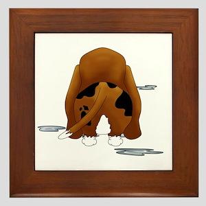 BassetDroolMirrorDark Framed Tile