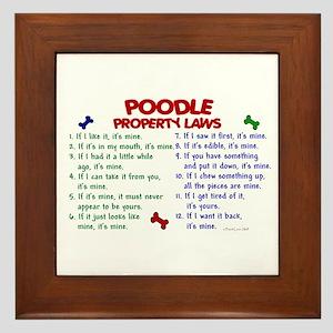 Poodle Property Laws 2 Framed Tile