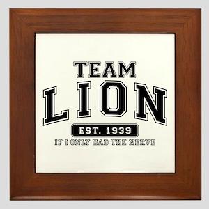 Team Lion - If I Only Had the Nerve Framed Tile