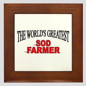 """""""The World's Greatest Sod Farmer"""" Framed Tile"""