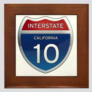 Interstate 10 - California Framed Tile
