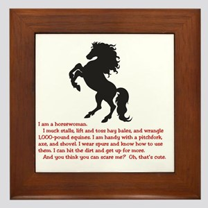 I am a horsewoman ... I can  ...  Framed Tile