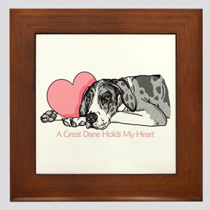 MerleB UC Holds Heart Framed Tile