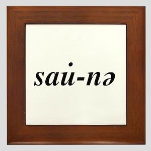 Wooden Framed Sauna Door Sign