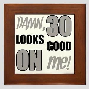 Funny 30th Birthday (Damn) Framed Tile