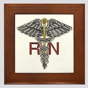 RN Medical Symbol Framed Tile