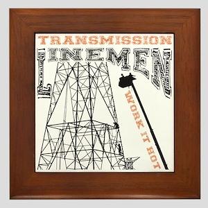 transmission tower Framed Tile