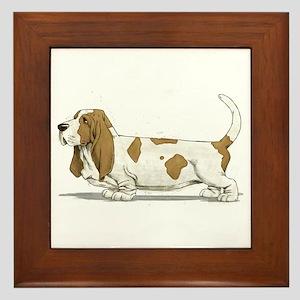 Basset Hound Framed Tile