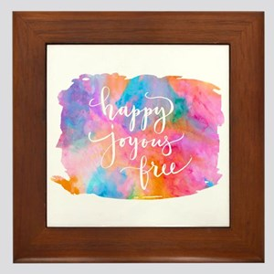 Happy Joyous Free Framed Tile