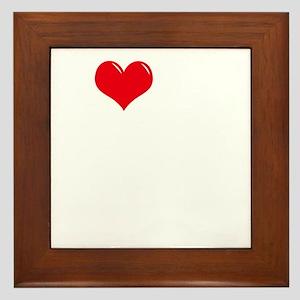 I-Love-My-Doodle-dark Framed Tile