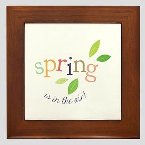 Spring In The Air Framed Tile