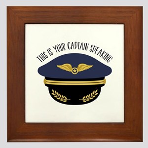 Your Captain Framed Tile