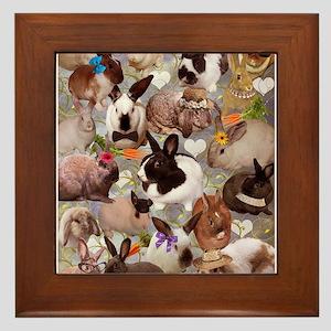 Happy Bunnies Framed Tile