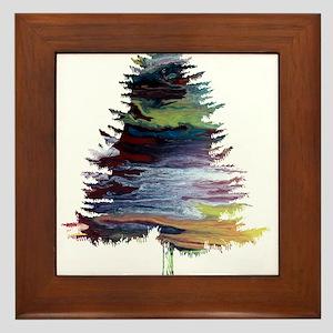 Fir Tree Framed Tile