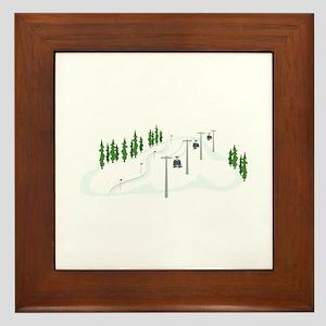 Ski Lift Framed Tile