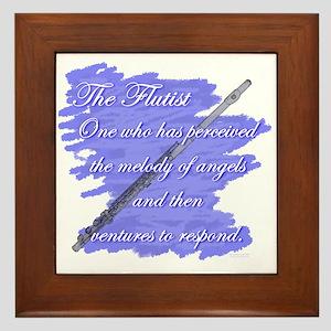 Flutist Verse Framed Tile