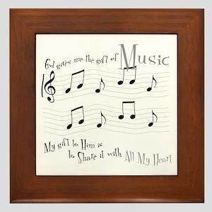 Gift of Music #1 Framed Tile