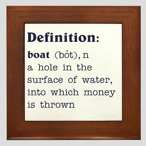 Boat Definition Framed Tile