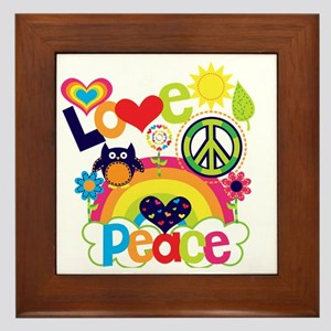 Love and Peace Framed Tile
