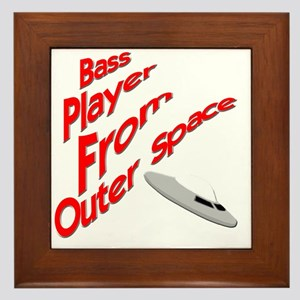 Bass Player From Outer Space Framed Tile