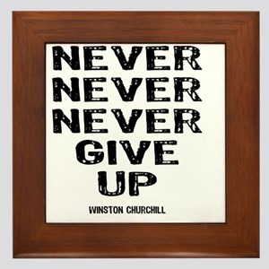 NEVER_GIVE_UP Framed Tile