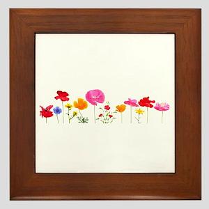 wild meadow flowers Framed Tile