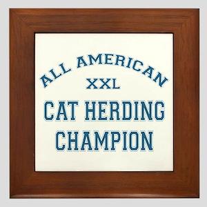 AA Cat Herding Champion Framed Tile