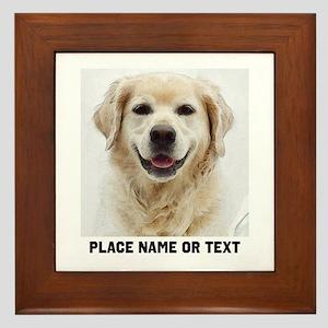 Dog Photo Customized Framed Tile