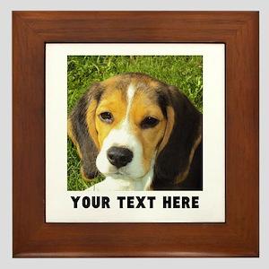 Dog Photo Personalized Framed Tile