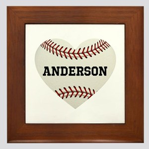 Baseball Love Personalized Framed Tile