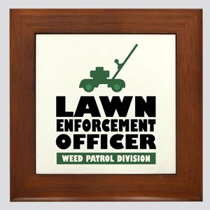Lawn Enforcement Framed Tile