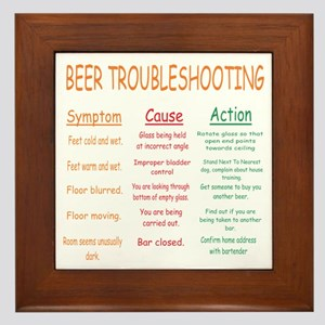 Beer Troubleshooting Framed Tile