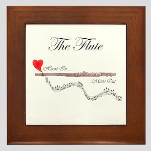 'The Flute' Framed Tile