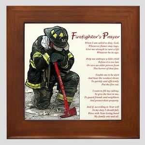 Firefighter Prayer Framed Tile