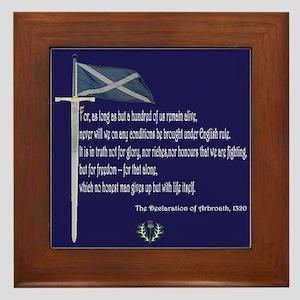 Declaration Of Arbroath Framed Tile